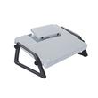 Fußstütze Relax Trittfläche 450x350mm höhenverstellbar lichtgrau Wedo 2751 Produktbild Additional View 1 S