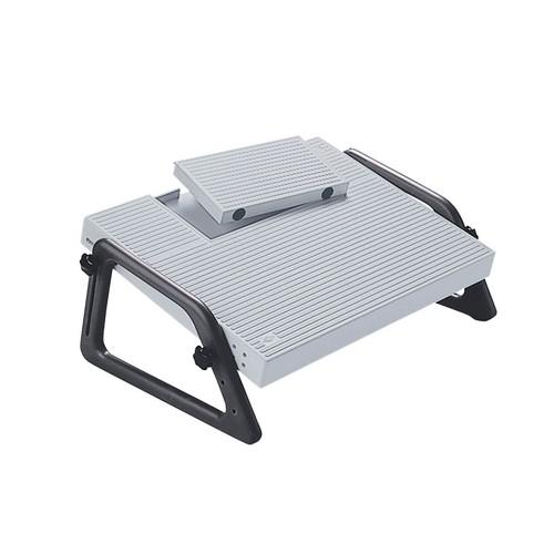 Fußstütze Relax Trittfläche 450x350mm höhenverstellbar lichtgrau Wedo 2751 Produktbild Additional View 1 L