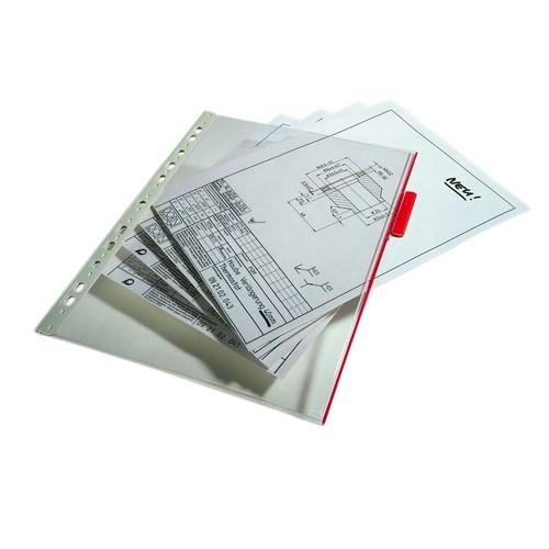 Sichttafeln FUNCTION mit 60mm Tabs A4 für Tafelträger farblos Durable 5607-19 (PACK=5 STÜCK) Produktbild Additional View 2 L