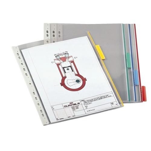 Sichttafeln FUNCTION mit 60mm Tabs A4 für Tafelträger farblos Durable 5607-19 (PACK=5 STÜCK) Produktbild Additional View 1 L