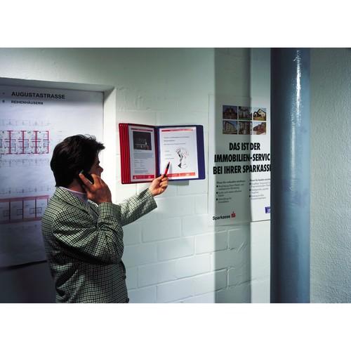 Sichttafelwandhalter SHERPA WALL MODULE 10 leer für 10 Sichttafeln Durable 5621-10 Produktbild Additional View 1 L