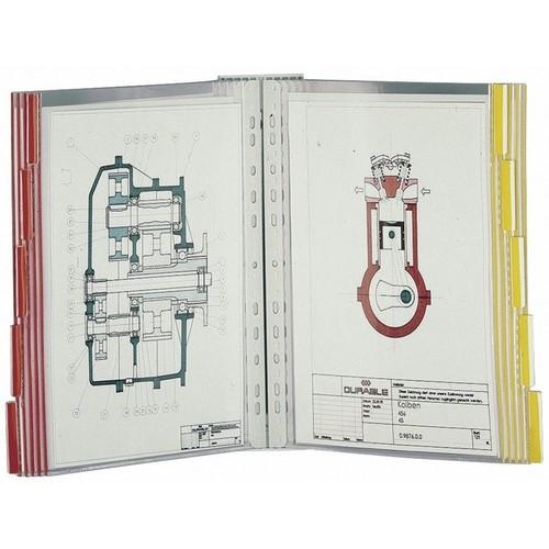 Sichttafelwandhalter FUNCTION WALL MODULE 10 leer für 10 Sichttafeln Durable 5674-10 Produktbild Additional View 1 L