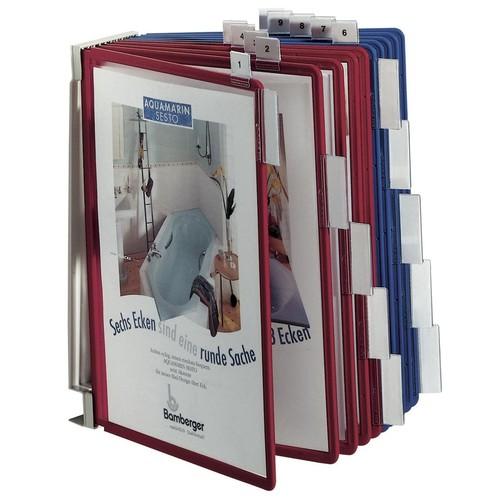 Sichttafelwandhalter FUNCTION WALL MODULE 10 leer für 10 Sichttafeln Durable 5674-10 Produktbild Additional View 2 L