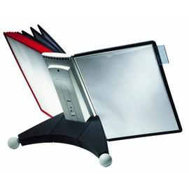Sichttafeltischständer SHERPA TABLE 10 5623 + je 5 Sichttafeln 5606 schwarz + rot Durable 5632-00 Produktbild