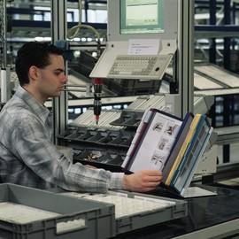 Sichttafeltischständer VARIO TABLE 20 5684 + 20 Sichttafeln 5606 Durable 5699-00 Produktbild