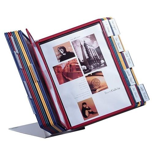 Sichttafeltischständer VARIO TABLE 20 5684 + 20 Sichttafeln 5606 Durable 5699-00 Produktbild Additional View 1 L