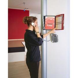 Sichttafelwandhalter SHERPA WALL 10 5621 + je 5 Sichttafeln 5606 schwarz + rot Durable 5631-00 (1 SET = 1 HALTER + 2x5 SICHTTAFELN) Produktbild