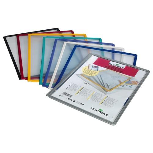 Sichttafeln SHERPA A4 für Tafelträger blauviolett Durable 5606-44 (PACK=5 STÜCK) Produktbild Additional View 3 L