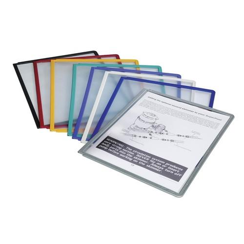 Sichttafeln SHERPA A4 für Tafelträger blauviolett Durable 5606-44 (PACK=5 STÜCK) Produktbild Additional View 1 L