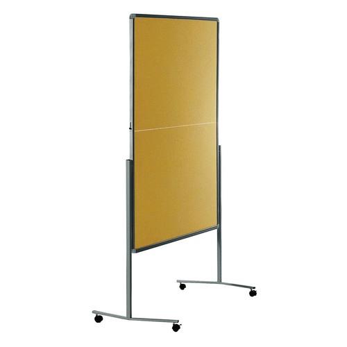 Moderationswand PREMIUM klappbar mobil 150x120cm beige filzbespannt Legamaster 7-205100 Produktbild Additional View 1 L
