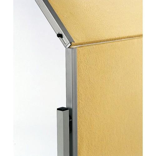 Moderationswand PREMIUM klappbar mobil 150x120cm beige filzbespannt Legamaster 7-205100 Produktbild Additional View 2 L