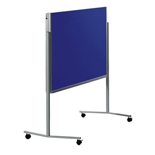Moderationswand PREMIUM klappbar mobil 150x120cm marineblau filzbespannt Legamaster 7-205400 Produktbild