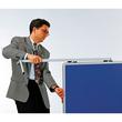 Moderationswand PREMIUM klappbar mobil 150x120cm marineblau filzbespannt Legamaster 7-205400 Produktbild Additional View 3 S