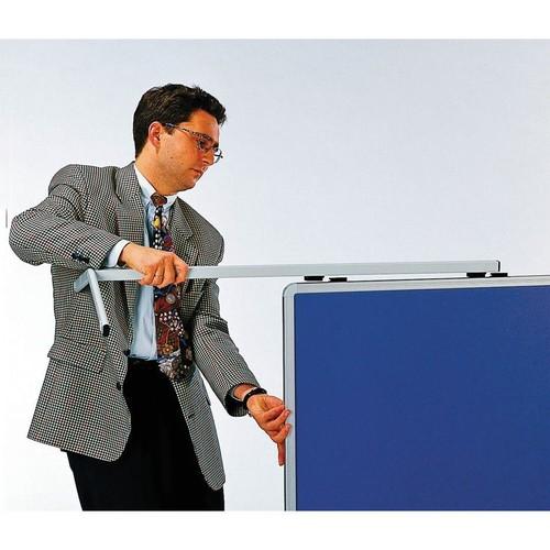 Moderationswand PREMIUM klappbar mobil 150x120cm marineblau filzbespannt Legamaster 7-205400 Produktbild Additional View 3 L