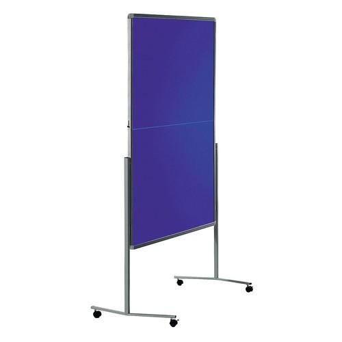 Moderationswand PREMIUM klappbar mobil 150x120cm marineblau filzbespannt Legamaster 7-205400 Produktbild Additional View 1 L