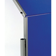 Moderationswand PREMIUM klappbar mobil 150x120cm marineblau filzbespannt Legamaster 7-205400 Produktbild Additional View 2 S