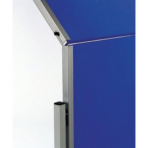 Moderationswand PREMIUM klappbar mobil 150x120cm marineblau filzbespannt Legamaster 7-205400 Produktbild Additional View 2 L