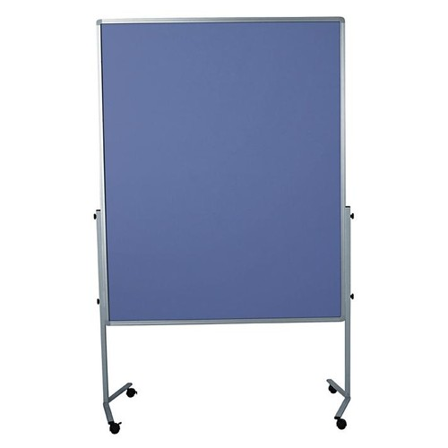 Moderationswand PREMIUM mobil 150x120cm blaugrau filzbespannt Legamaster 7-204200 Produktbild