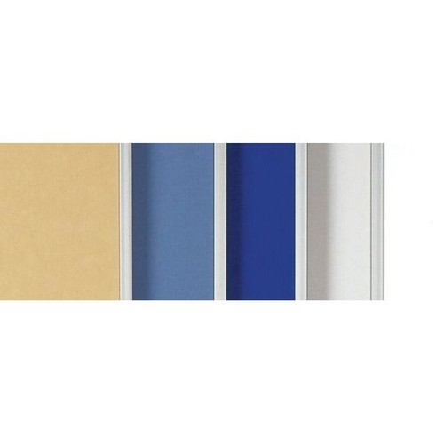Moderationswand PREMIUM mobil 150x120cm blaugrau filzbespannt Legamaster 7-204200 Produktbild Additional View 3 L