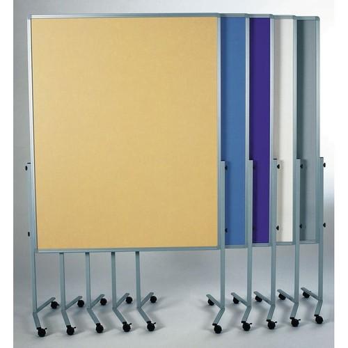 Moderationswand PREMIUM mobil 150x120cm blaugrau filzbespannt Legamaster 7-204200 Produktbild Additional View 4 L