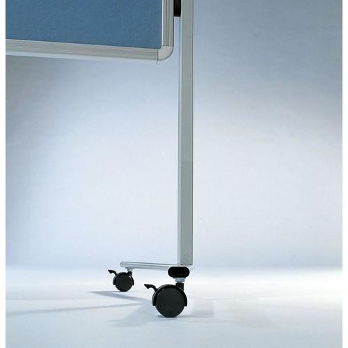 Moderationswand PREMIUM mobil 150x120cm blaugrau filzbespannt Legamaster 7-204200 Produktbild Additional View 1 L