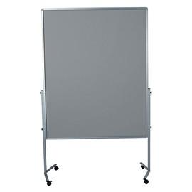 Moderationswand PREMIUM mobil 150x120cm grau filzbespannt Legamaster 7-204500 Produktbild