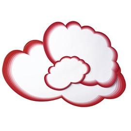 Moderationskarten Wolke 265x430mm weiß mit rotem Rand Legamaster 7-250300 (PACK=20 STÜCK) Produktbild