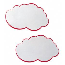Moderationskarten Wolke 420x250mm weiß mit rotem Rand Franken UMZ W (PACK=20 STÜCK) Produktbild