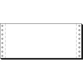"""Endlospapier 4""""x240mm 70g weiß blanko 1-fach mit Längsperforation Sigel 04241 (KTN=3000 BLATT) Produktbild"""