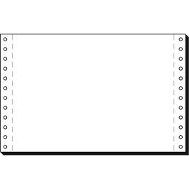"""Endlospapier 6""""x240mm 70g weiß blanko 1-fach mit Längsperforation Sigel 06241 (KTN=4000 BLATT) Produktbild"""