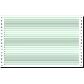 "Endlospapier 8""x330mm 60g grün/weiß 1-fach mit Längsperforation Sigel 08336 (KTN=2000 BLATT) Produktbild"