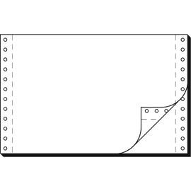 """Endlospapier 6""""x240mm 60g weiß blanko 2-fach selbstdurchschreibend Sigel 36242 (KTN=2000 SÄTZE) Produktbild"""
