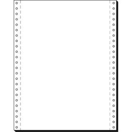 """Endlospapier 12""""x240mm 60g weiß blanko 1-fach mit Längsperforation Sigel 91100 (KTN=2000 BLATT) Produktbild"""