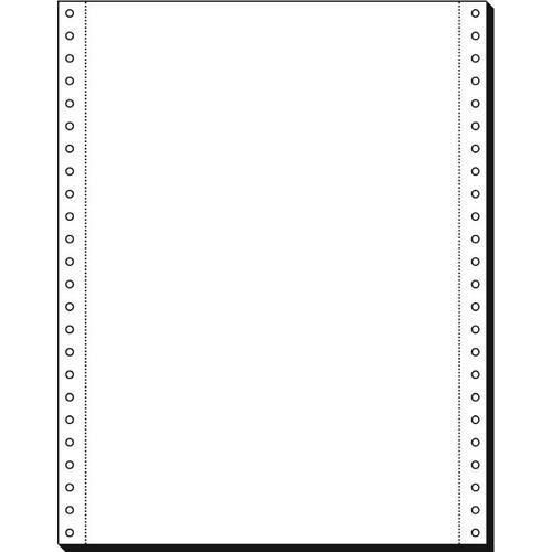 """Endlospapier 12""""x240mm 80g weiß blanko 1-fach mit Längsperforation Sigel 12238 (KTN=2000 BLATT) Produktbild Front View L"""
