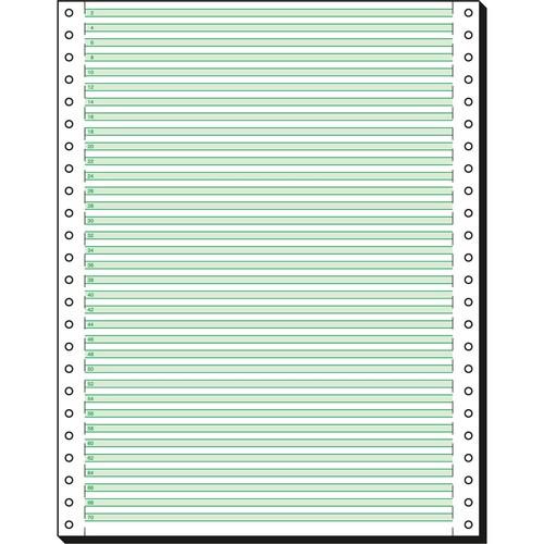 "Endlospapier 12""x240mm 60g grün/weiß 1-fach mit Längsperforation Sigel 12247 (KTN=2000 BLATT) Produktbild"
