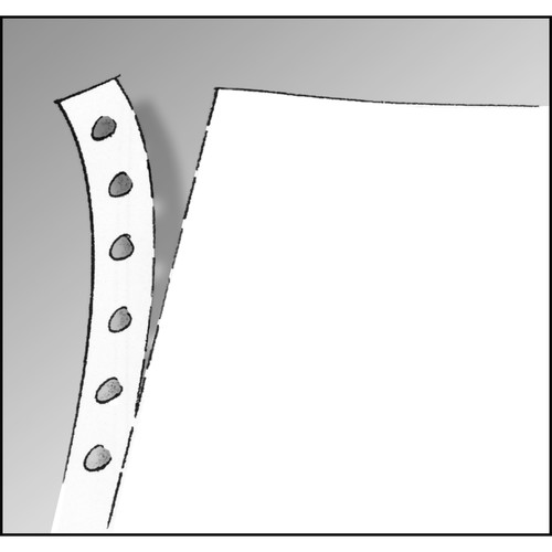 "Endlospapier 12""x240mm 60g grün/weiß 1-fach mit Längsperforation Sigel 12247 (KTN=2000 BLATT) Produktbild Additional View 1 L"