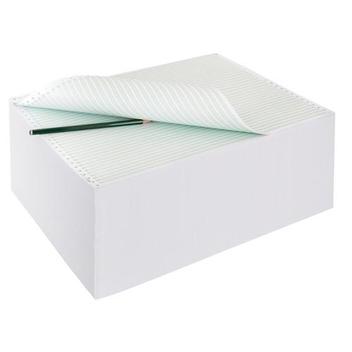 "Endlospapier 12""x240mm 60g grün/weiß 1-fach mit Längsperforation Sigel 12247 (KTN=2000 BLATT) Produktbild Additional View 2 L"