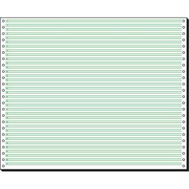 "Endlospapier 12""x375mm 60g grün/weiß 1-fach ohne Längsperforation Sigel 12371 (KTN=2000 BLATT) Produktbild"