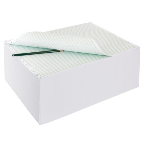 "Endlospapier 12""x375mm 60g grün/weiß 1-fach ohne Längsperforation Sigel 12371 (KTN=2000 BLATT) Produktbild Additional View 1 L"