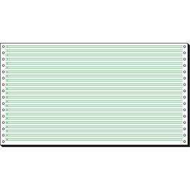 "Endlospapier 8""x375mm 60g grün/weiß 1-fach ohne Längsperforation Sigel 08371 (KTN=2000 BLATT) Produktbild"