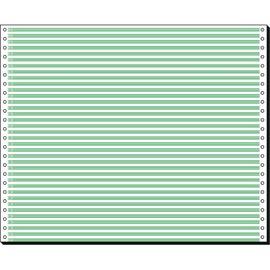 "Endlospapier 12""x375mm 60g grün/weiß 1-fach ohne Längsperforation Sigel 91000 (KTN=2000 BLATT) Produktbild"