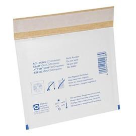 Versandtasche mit Warndruck weiß für CD / 180 x 145mm Produktbild