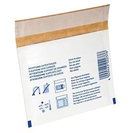Versandtasche mit Warndruck weiß für 3,5 Zoll-Disketten / 130 x 105mm Produktbild