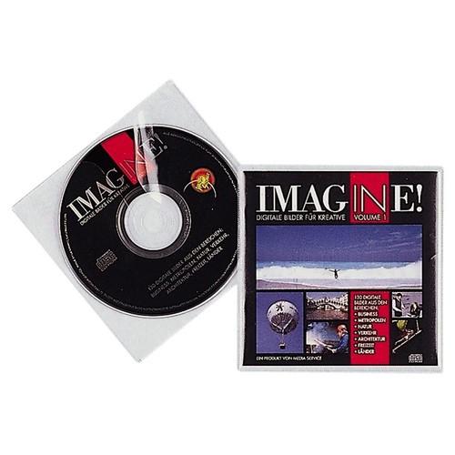 CD/DVD Cover mit Schutzvlies für 1 CD/DVD mit Booklet oder 2 CDs/DVDs transparent Durable 5202-19 (BTL=10 STÜCK) Produktbild Front View L