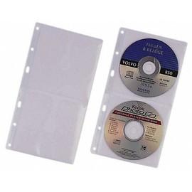 CD/DVD Cover S Hülle mit Schutzvlies für 2 CDs/DVDs mit Lochung transparent Durable 5203-19 (BTL=5 STÜCK) Produktbild