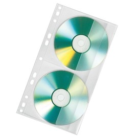 CD Doppel-Hülle für Ringbuch A4 für 2 CDs transparent Veloflex 4356000 (PACK=10 STÜCK) Produktbild