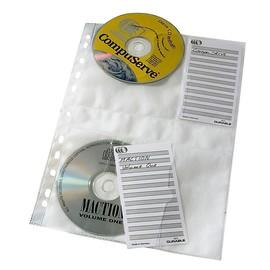 CD/DVD Cover M A4 mit Schutzvlies für 4 CDs/DVDs für Nr. 5227 transparent Durable 5222-19 (BTL=5 STÜCK) Produktbild