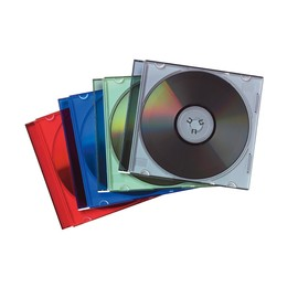 CD Leerhülle Slimline sortiert Fellowes 98317 (PACK=25 STÜCK) Produktbild