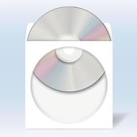CD/DVD Hülle selbstklebend mit Sichtfenster 124x124mm weiß Papier Herma 1140 (PACK=100 STÜCK) Produktbild