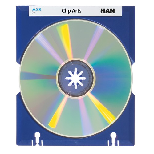 CD Cover-Hülle Mäx Tray für 1 CD ultramarin HAN 9201-14 Produktbild
